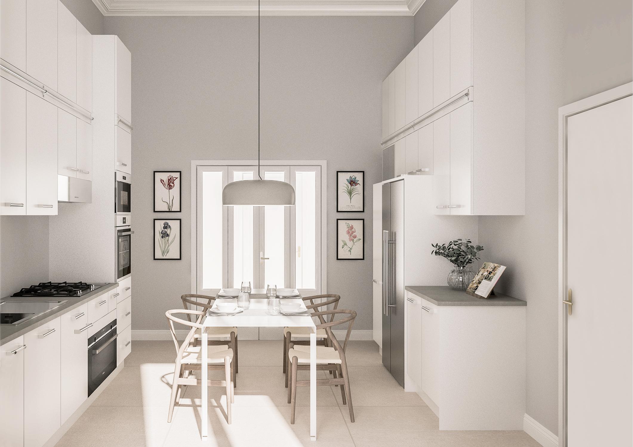 Appartamento in Milano, Magenta - Real Estate - cucina - render