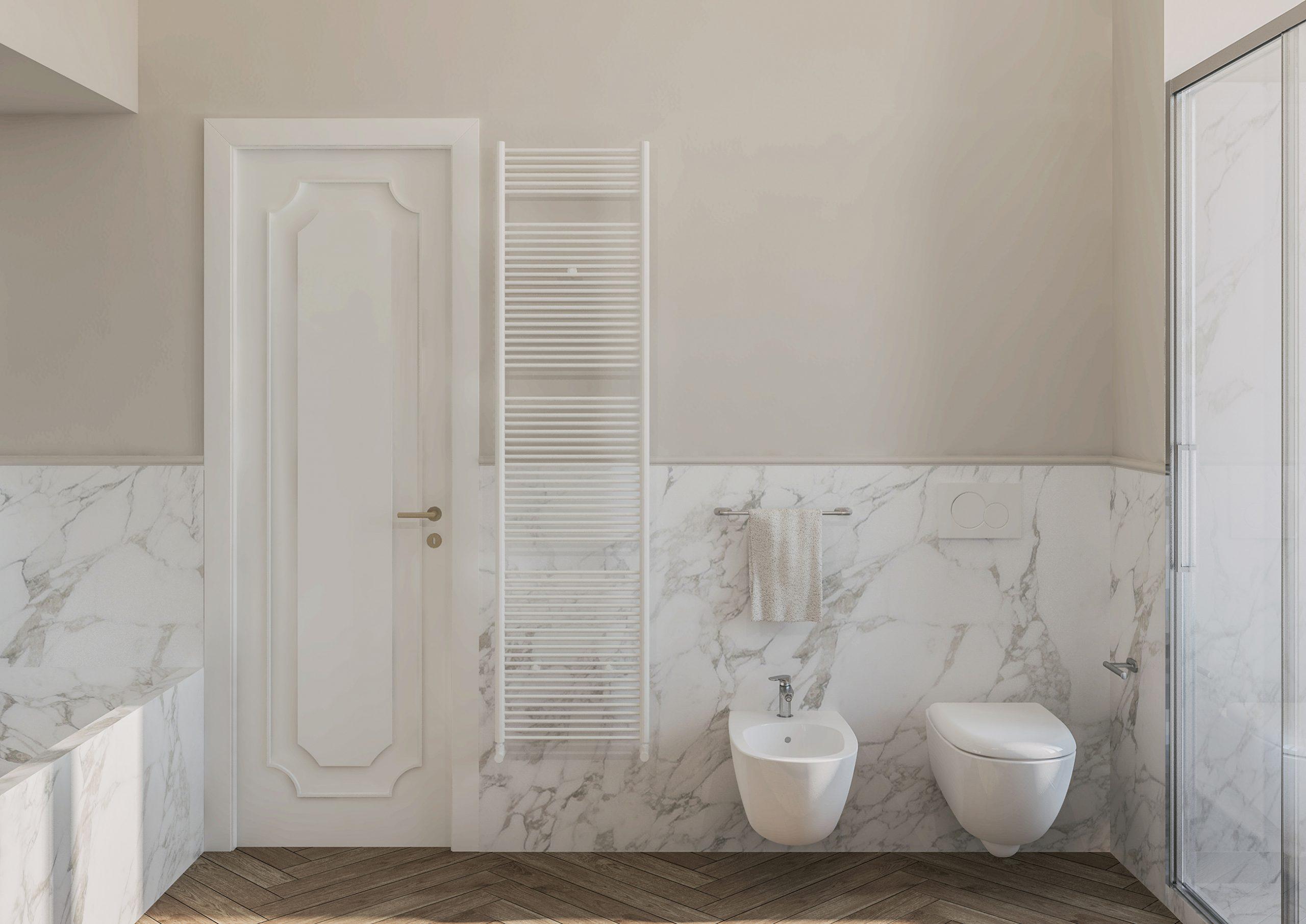 Appartamento in Milano, Ticinese - bagno - render 2