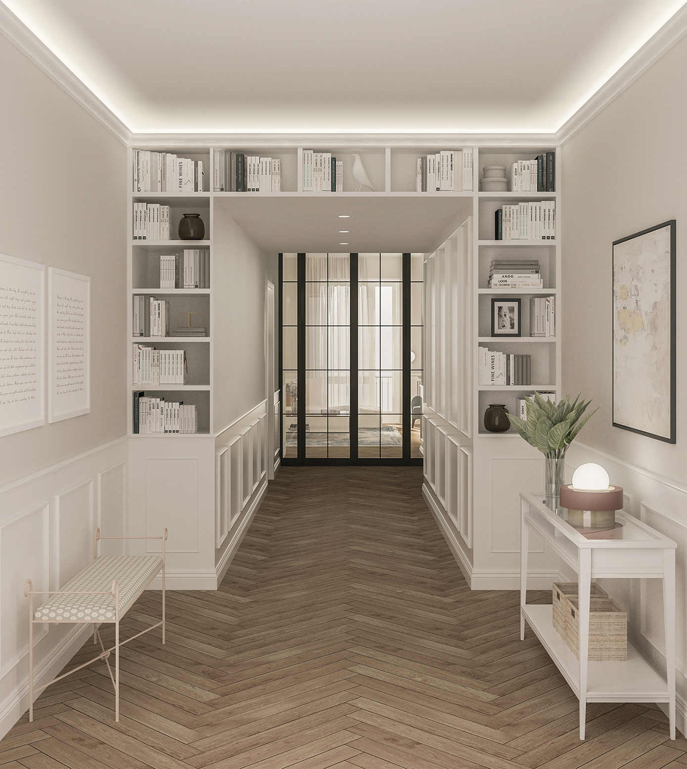 Appartamento in Milano, Ticinese - ingresso - render
