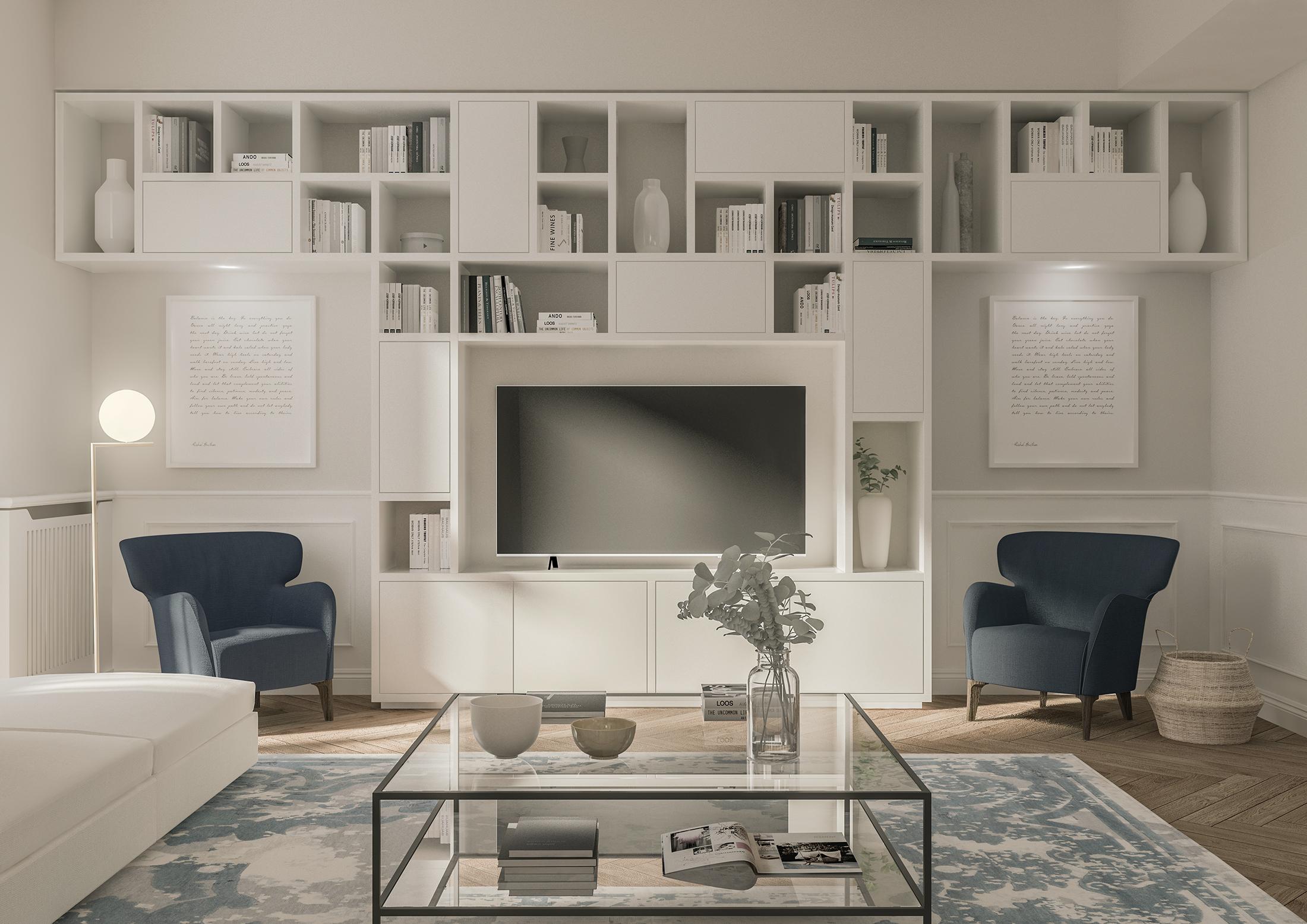 Appartamento in Milano, Ticinese - soggiorno - render