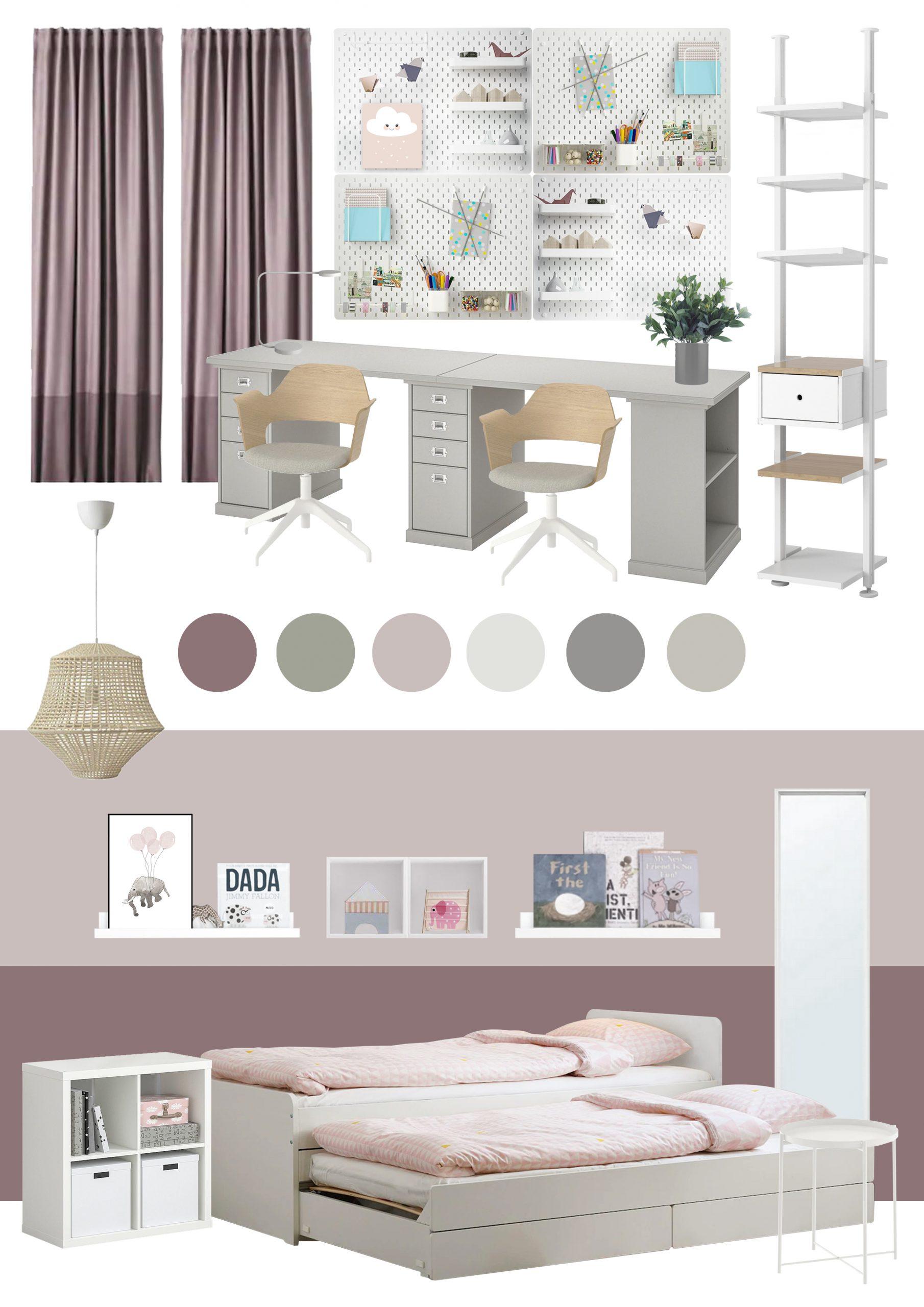 Appartamento in Cernusco sul Naviglio - camera figlie - moodboard