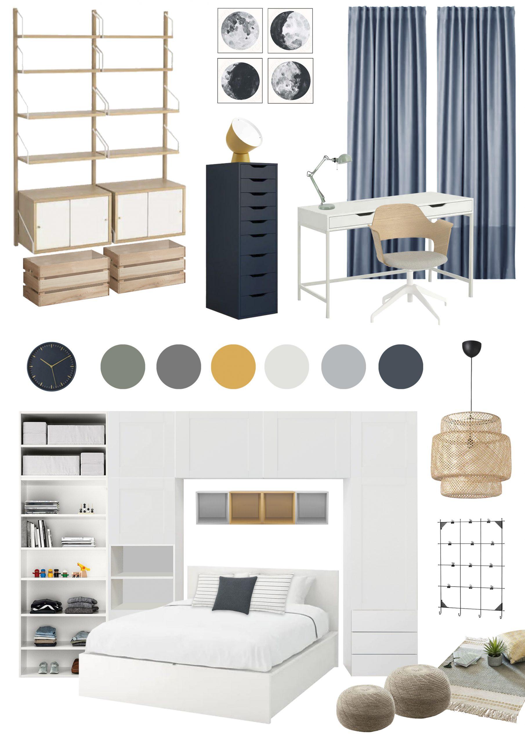 Appartamento in Cernusco sul Naviglio - camera figlio - moodboard