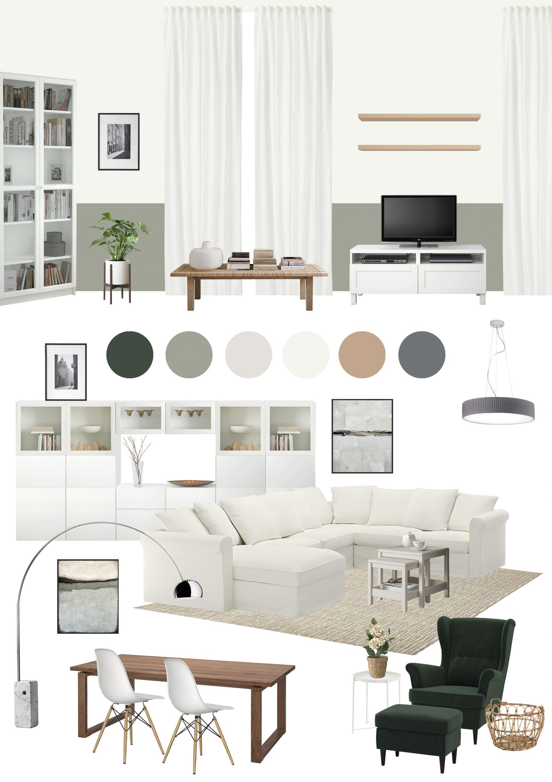 Appartamento in Cernusco sul Naviglio - soggiorno - moodboard